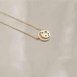 Celestial Moon & Stars Necklace | 14k Gold Plated